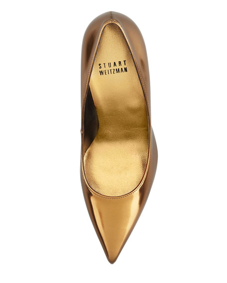 Nouveau Specchio Pointy-Toe Pump, Bronze