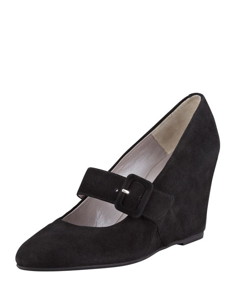 Sienna Suede Mary Jane Wedge