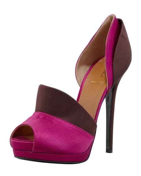 Anemone Layered Satin d'Orsay Pump