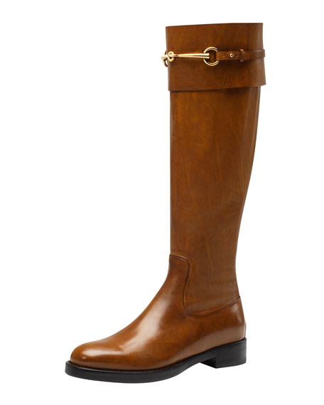 23cee6a0828 Gucci Jamie Flat Riding Boot
