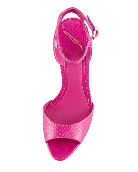 Femme Fatale Snakeskin Platform Sandal