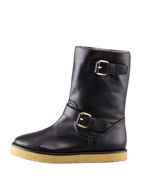 Faux-Fur Lined Cold Weather Boot, Black