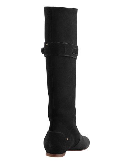 Paddington Suede Flat Knee Boot