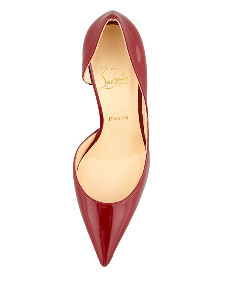 Iriza Pointed-Toe d'Orsay Red Sole Pump, Rouge