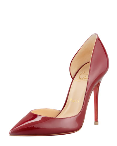 christian louboutin mens shoes replica - christian louboutin patent leather asymmetrical d'Orsay pumps ...