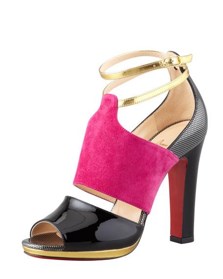 Lasauve Colorblock Sandal, Grenadine/Multi