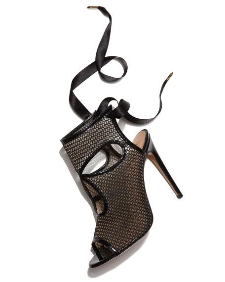 Tie-Back Mesh Patent Bootie