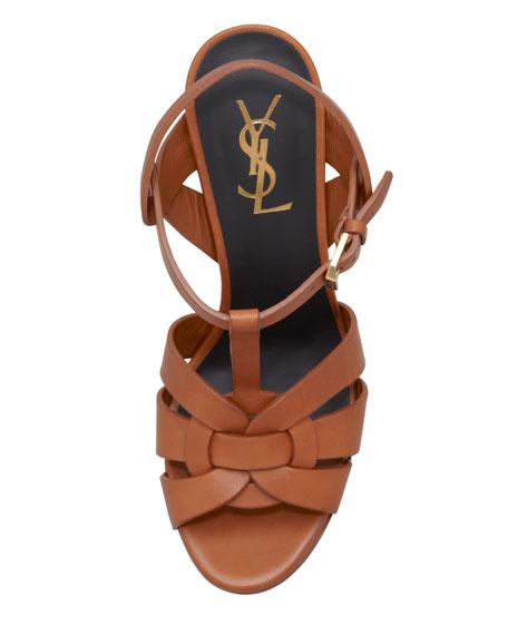 New Tribute Platform Sandal, Brun