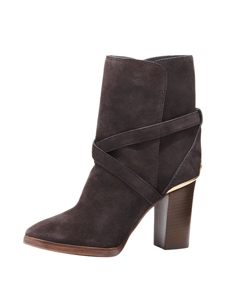 Livingston Suede Ankle Boot, Chalk Gray