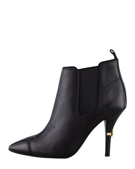 Bernice Pointy-Toe Ankle Bootie, Black