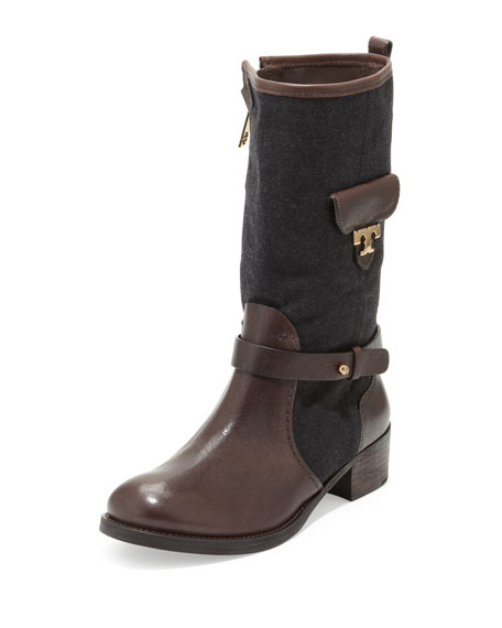 Leona Leather/Flannel Zip Boot
