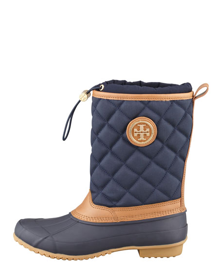 Denal Quilted Rain Boot, Bright Navy