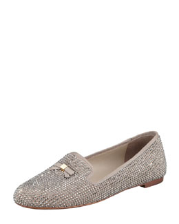 Tory Burch Chandra Sparkle Smoking Slipper, Dust Storm