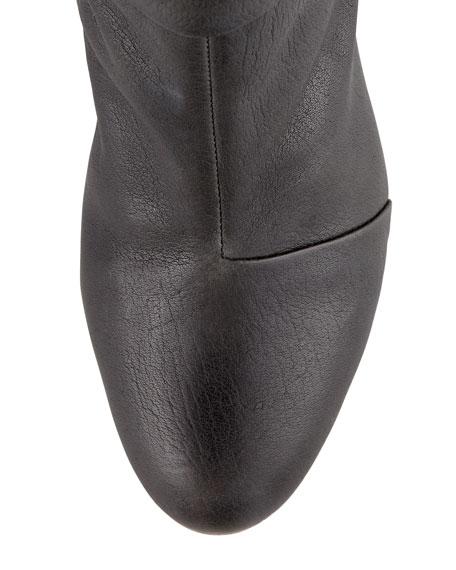 Newbury Leather Knee Boot, Black