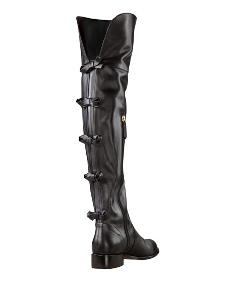 Multi Bow Over-the-Knee Boot