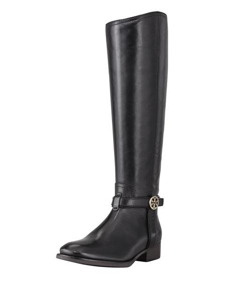 Bristol Leather Riding Boot, Black