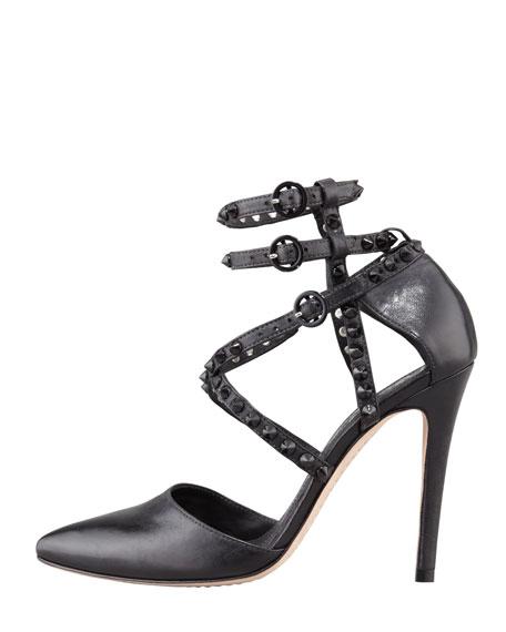 Drixa Studded Ankle-Wrap Pump