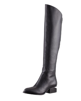 Alexander Wang Sigrid Back-Zip Knee Boot, Black