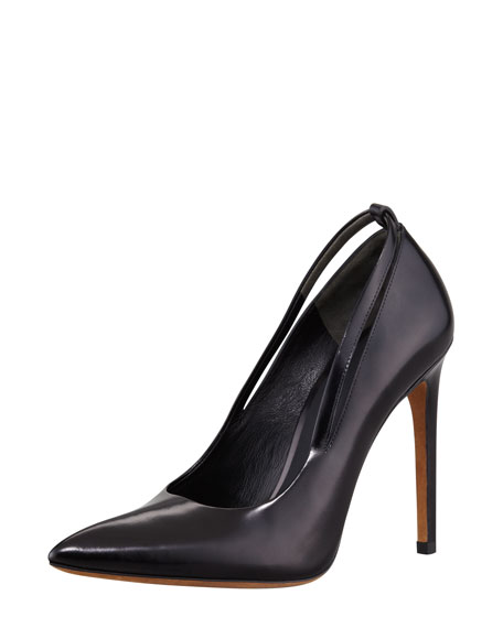 Kiko Polished Calfskin Strap-Detail Pump
