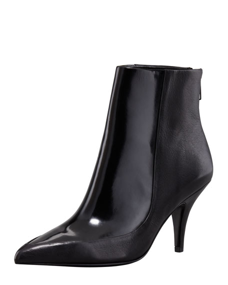 Lelia Patent Leather Bootie, Black