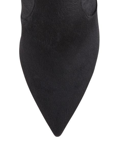 Sheared Calf Hair Knee Boot, Black
