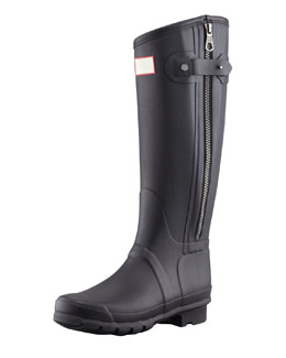 Hunter Boot Rag & Bone Tall Zip Boot, Black