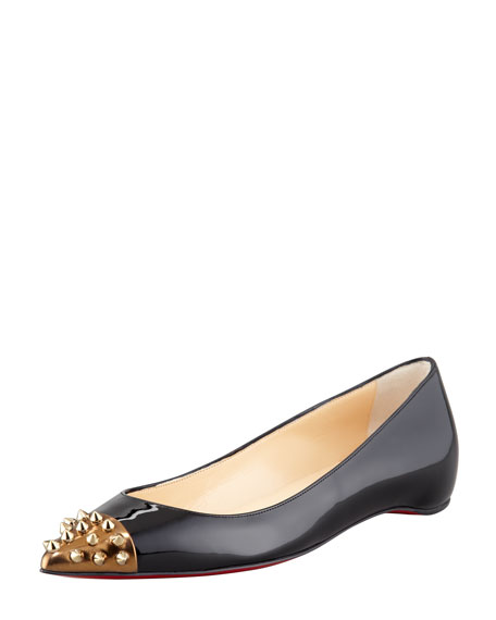 94aaa82142fd Christian Louboutin Geo Spiked Patent Flat