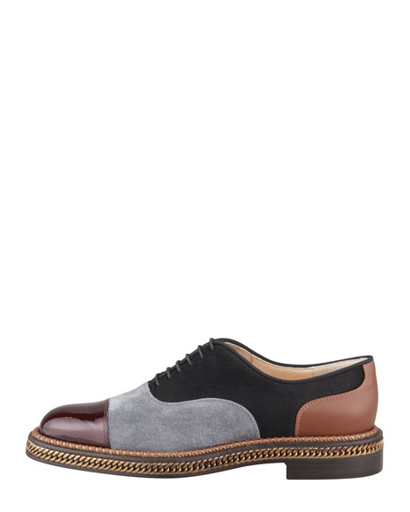 for cheap Christian Louboutin Latcho Mixed-Media Oxfords find great online comfortable online brand new unisex FnZObb0