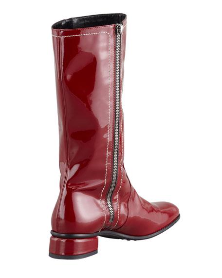 Lotus Weatherproof Patent Boot, Red