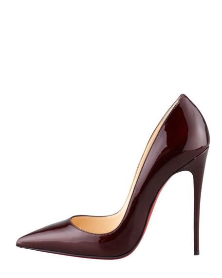 So Kate Patent Leather Point-Toe Pump, Rouge Noir