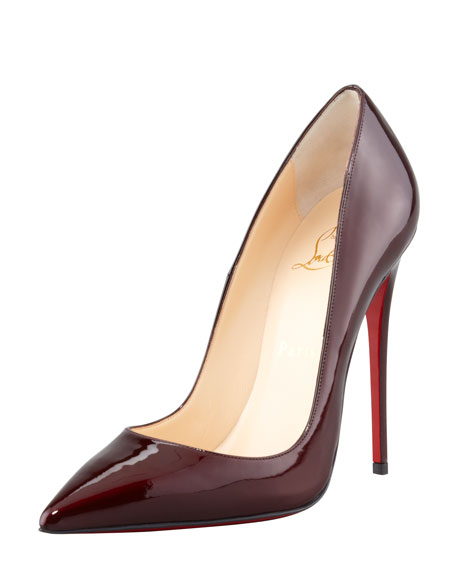 00ee9ef704b Christian Louboutin So Kate Patent Leather Point-Toe Pump