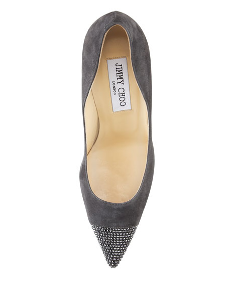 Amika Pointed-Toe Pump, Smoke