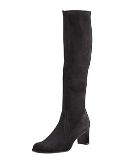 Stuart Weitzman Chicboot Stretch Suede Knee Boot