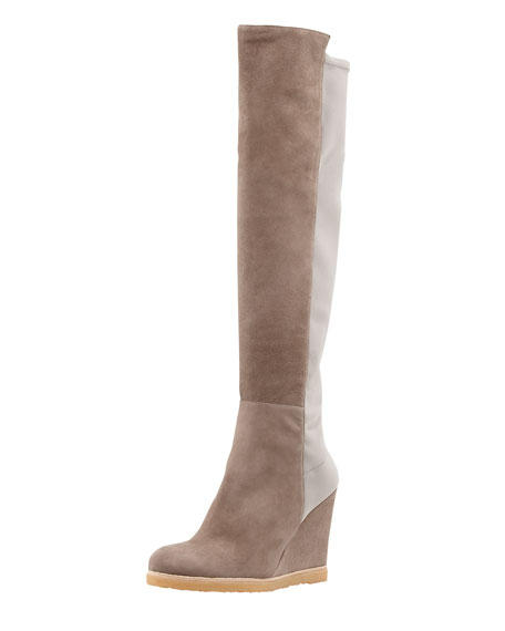 Demiswoon Over-the-Knee Wedge Boot, Mushroom