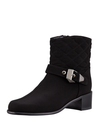 Gorby Buckled Quilt-Shaft Bootie
