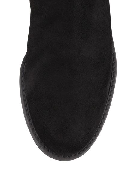 Pentagon Suede Stretch-Back Knee Boot
