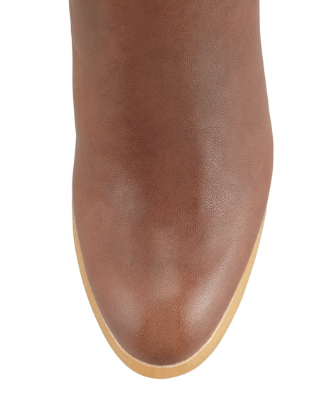 Bootscout Hidden-Wedge Bootie, Walnut