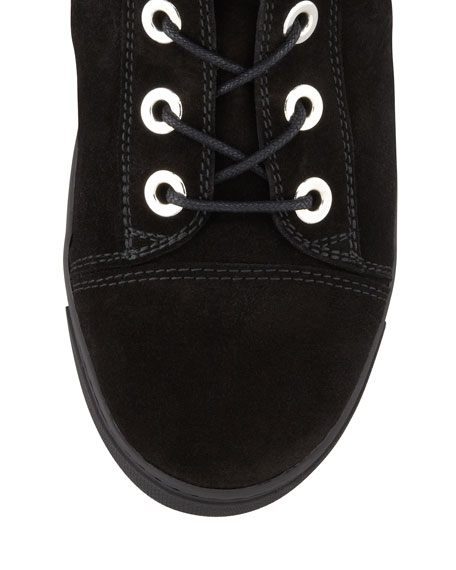 Shotput Suede High-Top Sneaker, Black