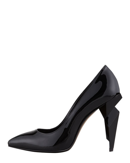 Patent Diamond-Heel Pump, Black