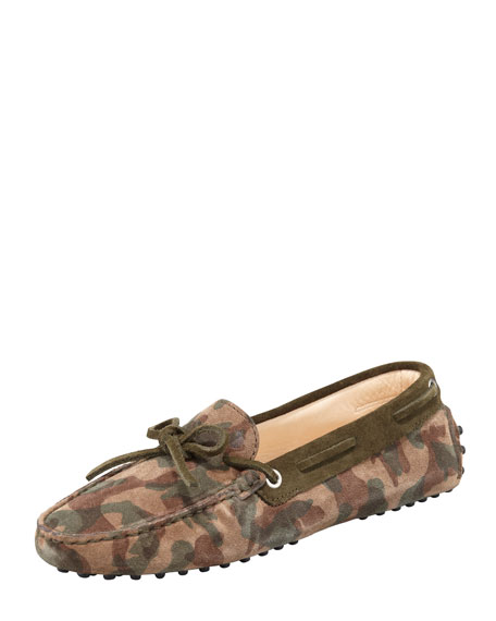 Camouflage Suede Driver, Olive