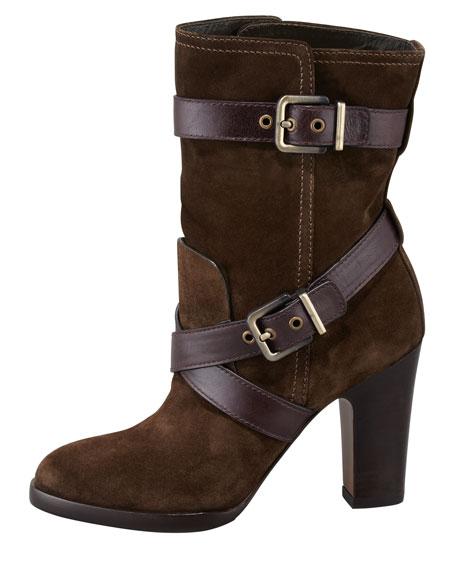 Roslin Buckle-Wrap Suede Boot