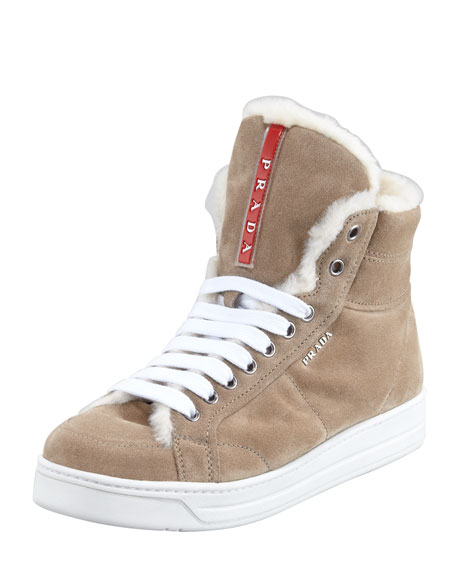 Suede High-Top Sneaker, Desert
