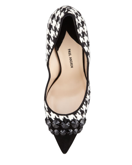 Sohelia Houndstooth Pointed-Toe Pump
