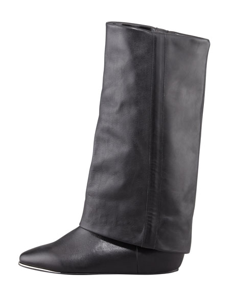 Hidden-Wedge Fold-Over Boot