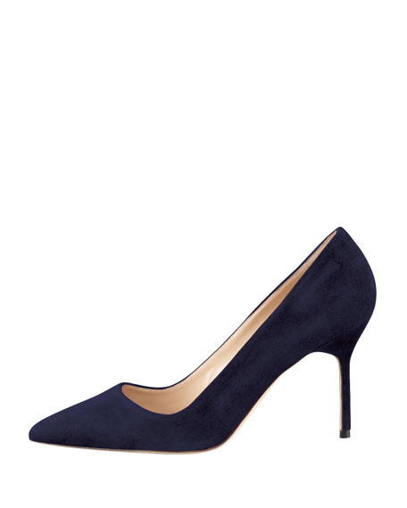 BB Suede 90mm Pump, Navy