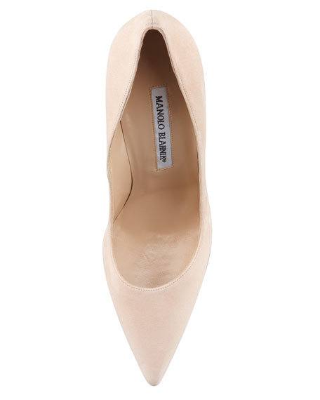 BB Suede 105mm Pump, Nude (Made to Order)