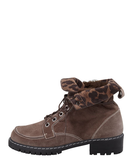 Trucker Lace-Up Boot, Seal