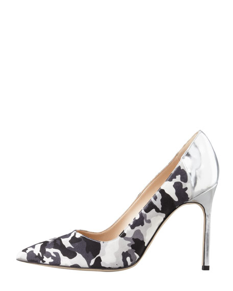 BBMal Camo-Print Pump, Black/White