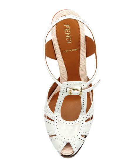"Patent Tri-Tone 4 3/4"" Heel Sandal"