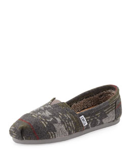 TOMS Jacquard Flannel Slip-On
